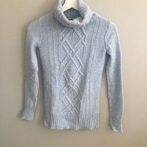 J. Crew Light Blue Turtleneck Sweater